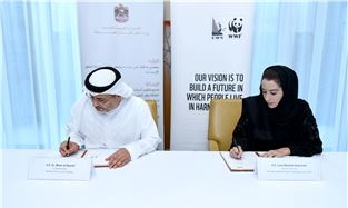 Ministry of Energy and Industry and Emirates Wildlife Society sign MoU to increase production and use of renewable energy